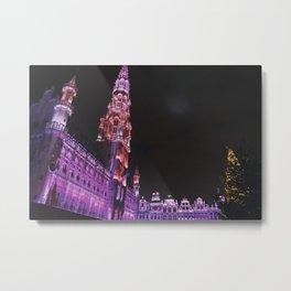 Christmas in Brussels Metal Print