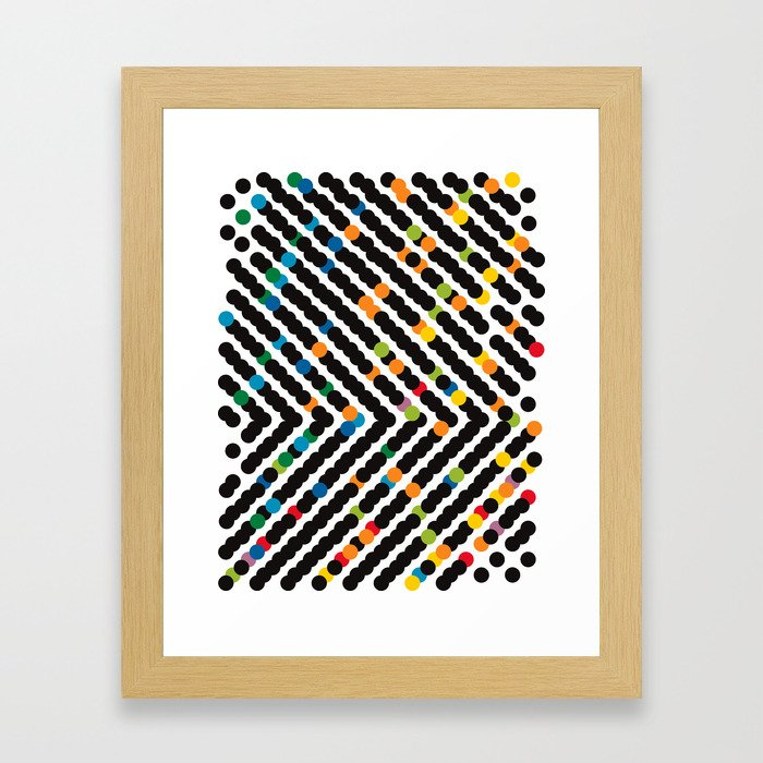 ARROW - dots Framed Art Print