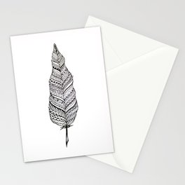 Aztec black and white feather Stationery Cards