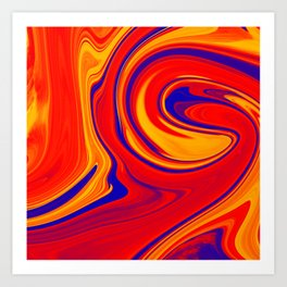 Abstract Bold Colorful Marble Art Print