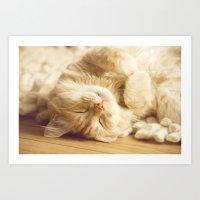 Sleep little sweetie Art Print