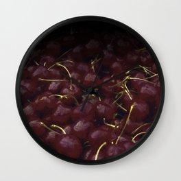 cherries pattern hvhdfn Wall Clock