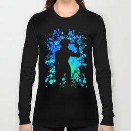Anime Paint Splater Inspired Shirt Long Sleeve T-shirt