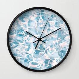 Marbled Water Nature Abstract #artprints #decor #society6 Wall Clock