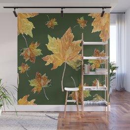 falling leaves Wall Mural