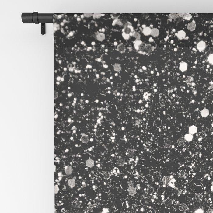 Silver Gray Glitter #1 #shiny #decor #art #society6 Blackout Curtain