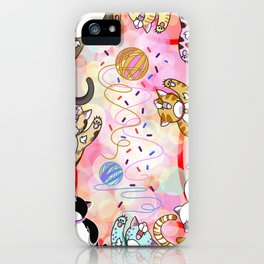 Catnip Mayhem iPhone Case