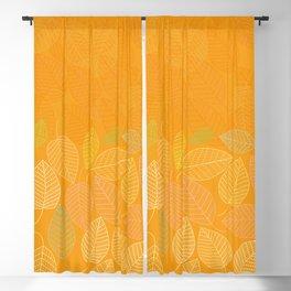 LEAVES ENSEMBLE ORANGE YELLOW Blackout Curtain