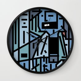 The sad hipster and the copper mosquito Wall Clock