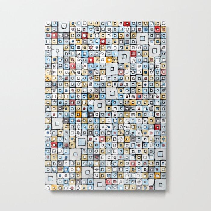 Grid#01 Metal Print