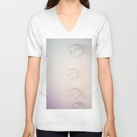 lanterns V-neck T-shirts featuring light lanterns by satya lila
