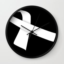 White Ribbon Wall Clock