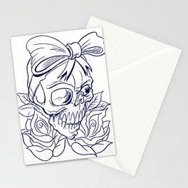 Halloween Skull Tattoo Stationery Cards