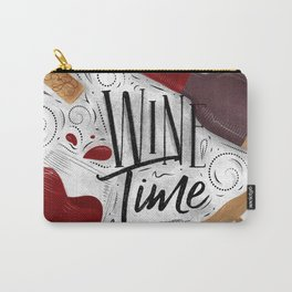 Wine time white Carry-All Pouch
