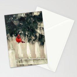 Snowy Day Cardinal Stationery Cards