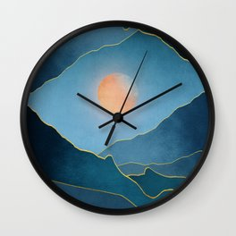 Surreal sunset 03 Wall Clock