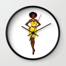 The Yellow Dress Wall Clock