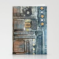 cityscape Stationery Cards featuring Cityscape by Maureen Mitchell