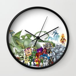 Iron Man Roster Wall Clock