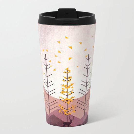 Sunset Mountain Metal Travel Mug