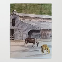 Old Horse Barn Poster