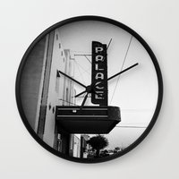 theater Wall Clocks featuring Palace Theater by Teran Jones