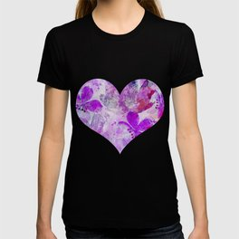 Pink Purple Watercolor Painted Flower Mix T-shirt