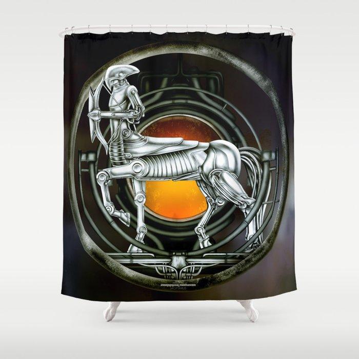 """Astrological Mechanism - Sagittarius"" Shower Curtain"