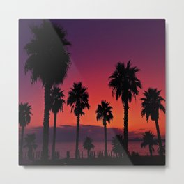 Sunset Is My Favourite Colour Metal Print