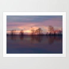 Calm. Reflections Art Print