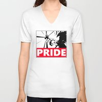 pride V-neck T-shirts featuring Pride by TxzDesign