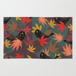 Autumn Blackbirds Rug
