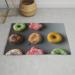 Donut Worry, Be Happy Rug