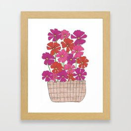 Bushel of Cosmos Framed Art Print