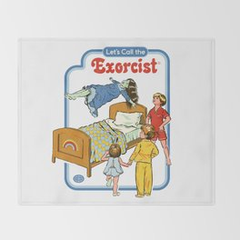 LET'S CALL THE EXORCIST Throw Blanket