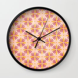 70s Vintage Rosa Wall Clock