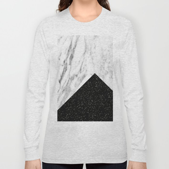 Ebony marble geo Long Sleeve T-shirt