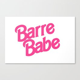 '90s Barre Babe Canvas Print