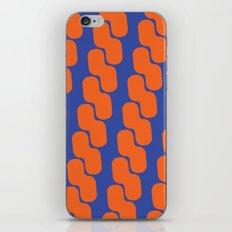 Orange and Blue Chain iPhone & iPod Skin