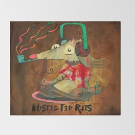 Mystic Tip Rats Throw Blanket