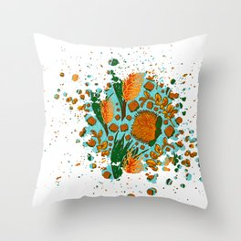 Australian Native Floral Graphic Print Throw Pillow