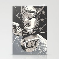gravity Stationery Cards featuring Gravity by Señor Salme