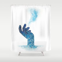 Hand of Magic Shower Curtain