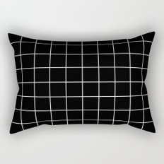 Black White Grid Rectangular Pillow