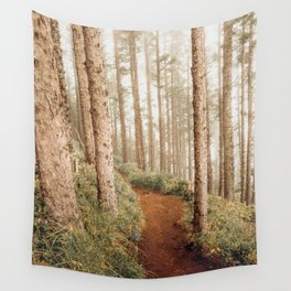 Foggy Forest-Oregon Coast Nature-Photography in the PNW Wall Tapestry