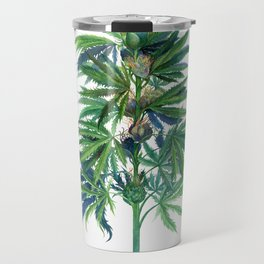 Cannabis Scientific Illustration Travel Mug