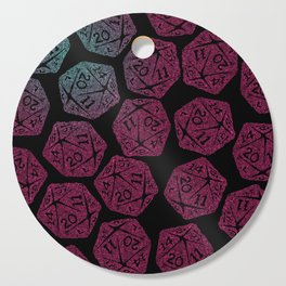 d20 dice pattern - darker gradient pastel - icosahedron Cutting Board