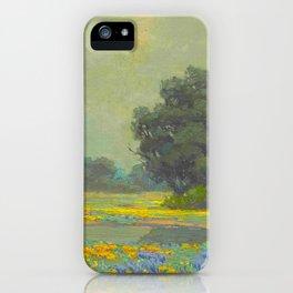 Granville Redmond (1871-1935) Landscape Flower Field iPhone Case