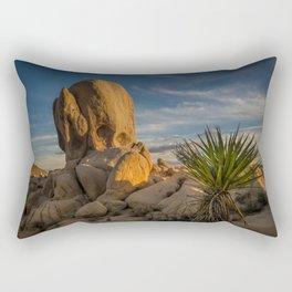 Joshua Tree Rock Formation Rectangular Pillow