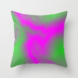 Blurry outlines of lightning with a swirling gap. Throw Pillow